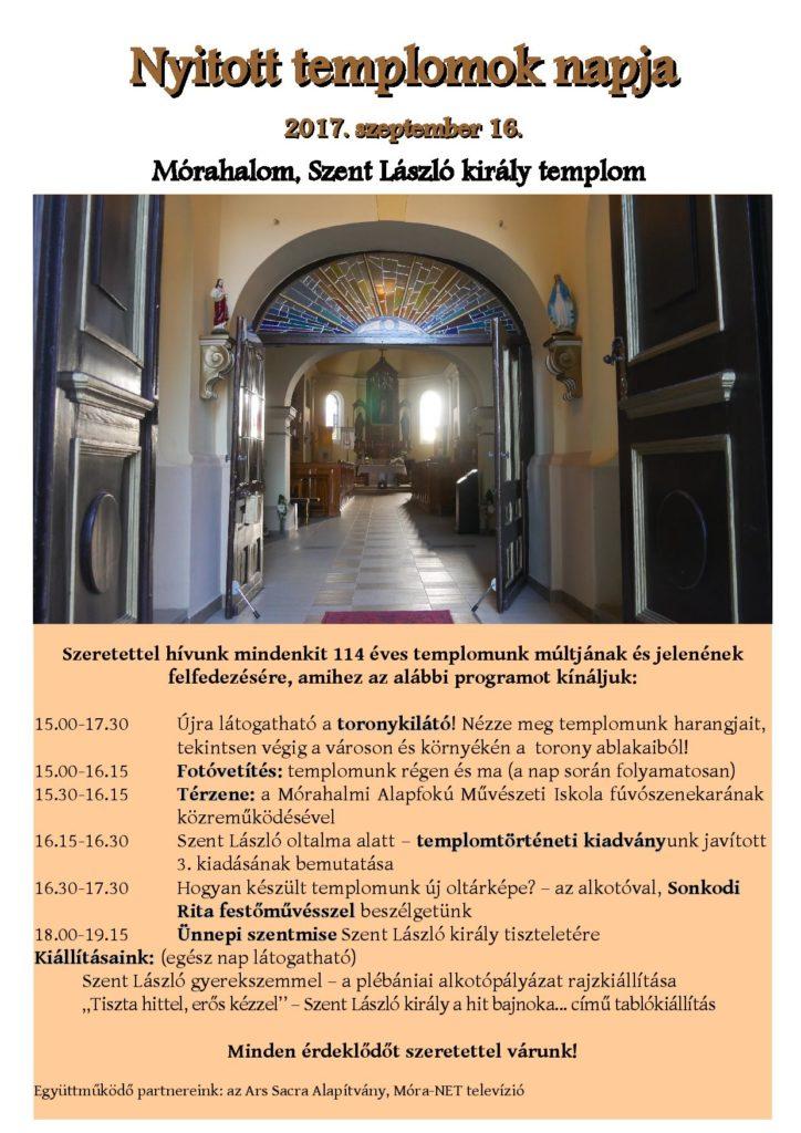 nyitott templomok napja - plakat